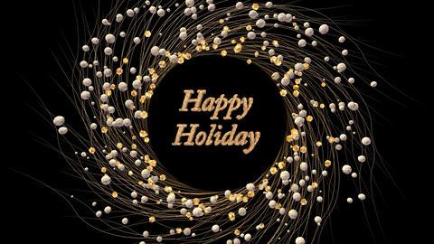 Happy Holiday CG動画素材
