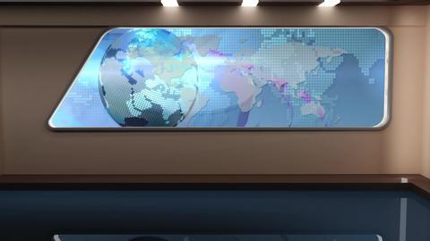 News TV Studio Set 170 - Virtual Background Loop Footage