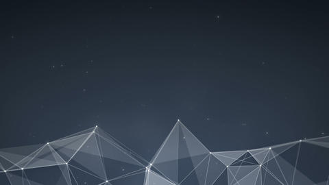 Futuristic network construction with triangles and lines loopable Animation