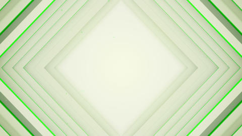 Frame of white and green rhombic lines 3D render loopable Animation