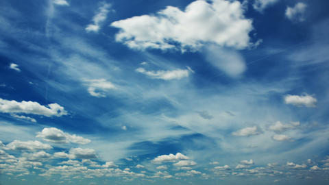 Blue sky and white clouds time lapse Footage