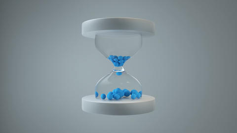 Cartoon style hourglass seamless loop 3D render animation Animation