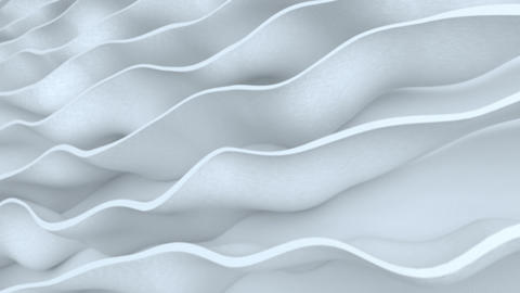 White curved stripes 3D Render seamless loop animation Animation