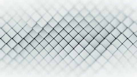 Wall of white rhombus shapes abstract seamless loop 3D render animation Animation