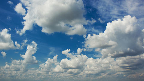 White clouds in blue sky time lapse Footage