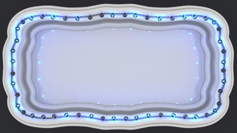 Marquee light board sign 3D render seamless loop animation Animation