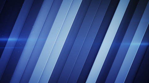 Diagonal stripes and blue light flares seamless loop 3D render animation Animation