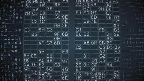 Digital data on retro computer monitor seamless loop animation Animation