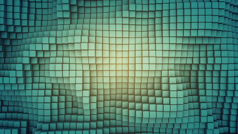 Wavy surface of cubes seamless loop 3D render animation Animation