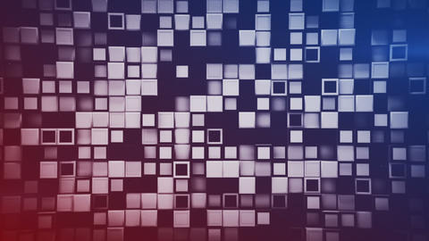 Wall of 3D boxes abstract geometric background seamless loop Animation