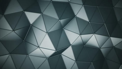 Triangulated polygonal surface 3D render seamless loop animation Videos animados