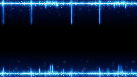 Frame of blue digital audio equalizer seamless loop animation Animation