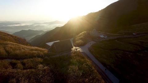 Sunrise of Ganwoljae in Sinbulsan Mountain, Uljugun, Ulsan, South Korea, Asia Footage