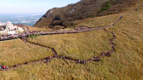 Ganwoljae Eogsae Festival in Sinbulsan Mountain, Uljugun, Ulsan, South Korea, Footage
