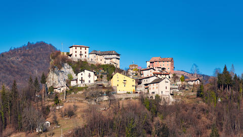 Village of Pizzino in Taleggio valley near Brembana valley Berga Photo