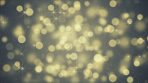 Yellow blurry lights and stars seamless loop animation Animation
