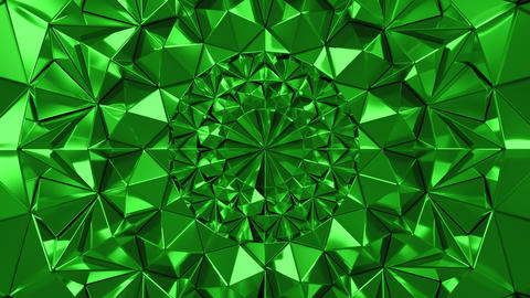 Green Geometric Triangle Wall waving background. Seamless Loop 4K UHD Live Action