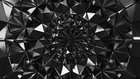 Black Geometric Triangle Wall waving background. Seamless Loop 4K UHD Live Action