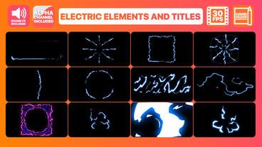 Electric Elements And Titles Motion Graphics Template