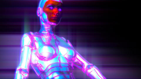 Female Robot Cyberpunk Dance Animation Animation