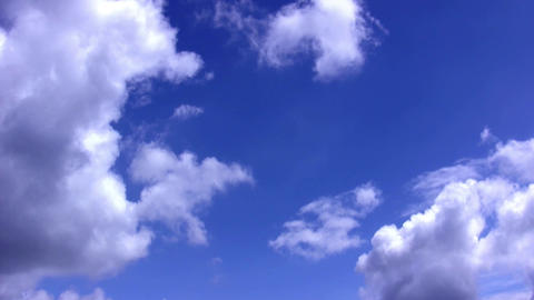 The rapid flow of clouds in the blue sky HD Live Action