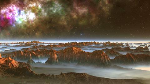 Alien Moon and Nebula GIF