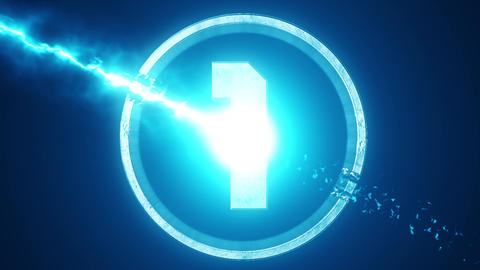 Blue Top 10 Numbers Coundown Motion Graphic Background Animation