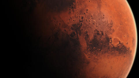Mars View - Fixed Cam Slow Rotation Full Screen Animation