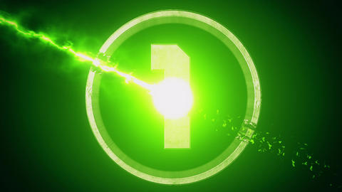 Green Top 10 Numbers Coundown Motion Graphic Background Animation