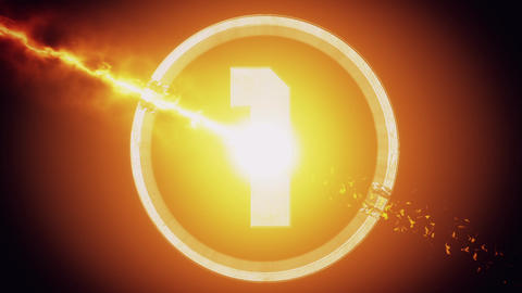 Orange Top 10 Numbers Coundown Motion Graphic Background Animation
