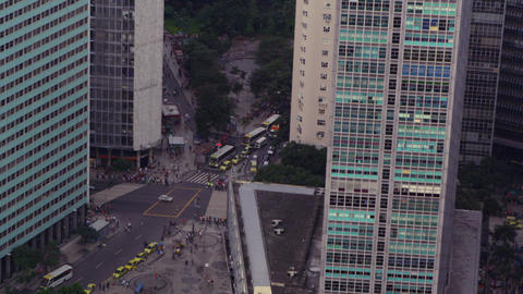 Flying over Brazil's commercial area in Rio de Janeiro Footage