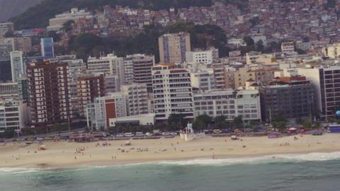 Flying over the coastline of Rio de Janeiro, Brazil Live Action