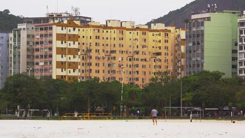 Buildings near a park in Rio de Janeiro, Brazil Footage