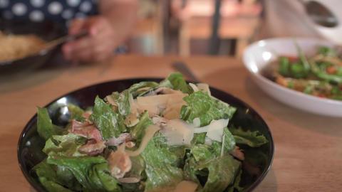 Caesar Salad stock footage