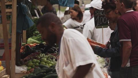 RIO DE JANEIRO, BRAZIL - JUNE 23: Slow motion, business at market on June 23, 20 Live Action