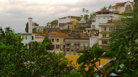 Static shot of a congested community in Rio de Janeiro, Brazil Footage