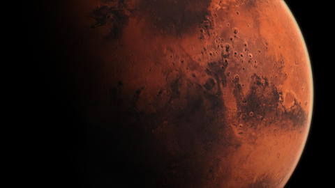 Mars View - Zoom in with Slow Rotation Full Screen Animation
