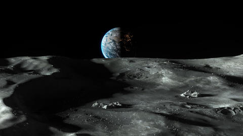 Earthrise - Planet Earth Seen From The Moon Animation