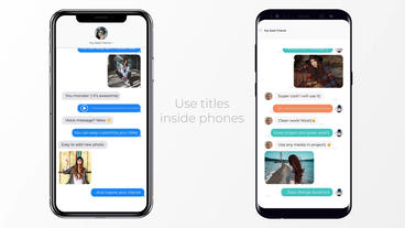 IOS and Android Messages After Effects Template