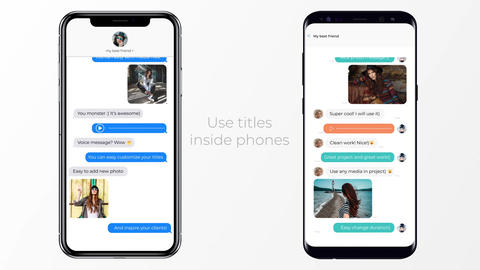 IOS and Android Messages Plantilla de After Effects