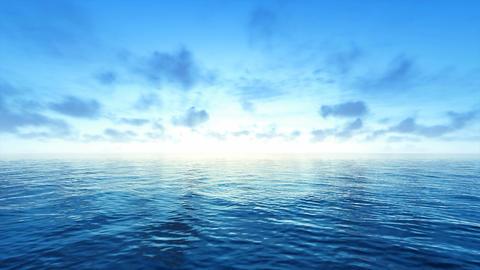 Blue Sky and Sea CG動画素材