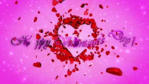 Funny video greeting card for Valentine's Day CG動画素材