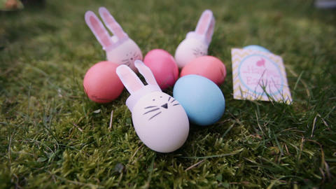 decoration for Easter. Easter bunnyes Footage