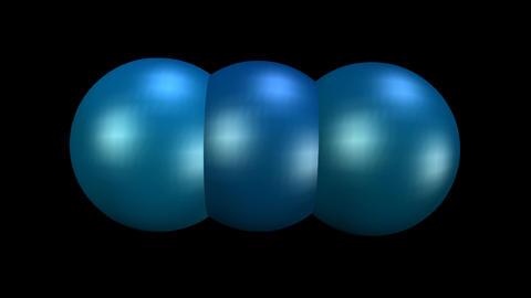Three metallic balls in dark blue design, creative motion, vfx animation of Animation