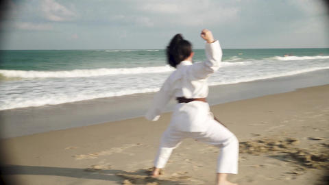 Lika shows karate Stock Video Footage