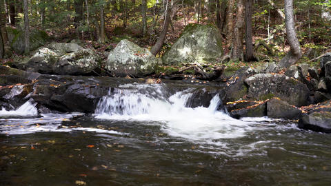 Small Waterfall In Stream Footage