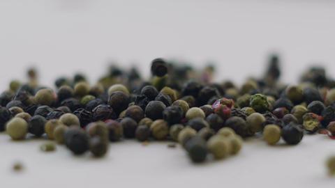 Black Pepper Spice. Dry Black Pepper Footage