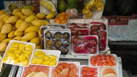 Thailand fresh fruits prepare Footage