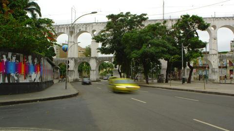 RIO DE JANEIRO, BRAZIL - JUNE 23: Time lapse of street in Rio de Janeiro on June Live Action