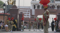 Wagah border ceremony,Wagah,India Footage